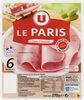 Jambon de Paris découenné et dégraissé - Produit