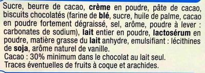 Lait cookies - Ingredients