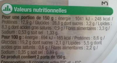 Taboulé au poulet - Nutrition facts