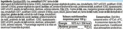 Roulés au fromage d'emmental - Ingrédients - fr