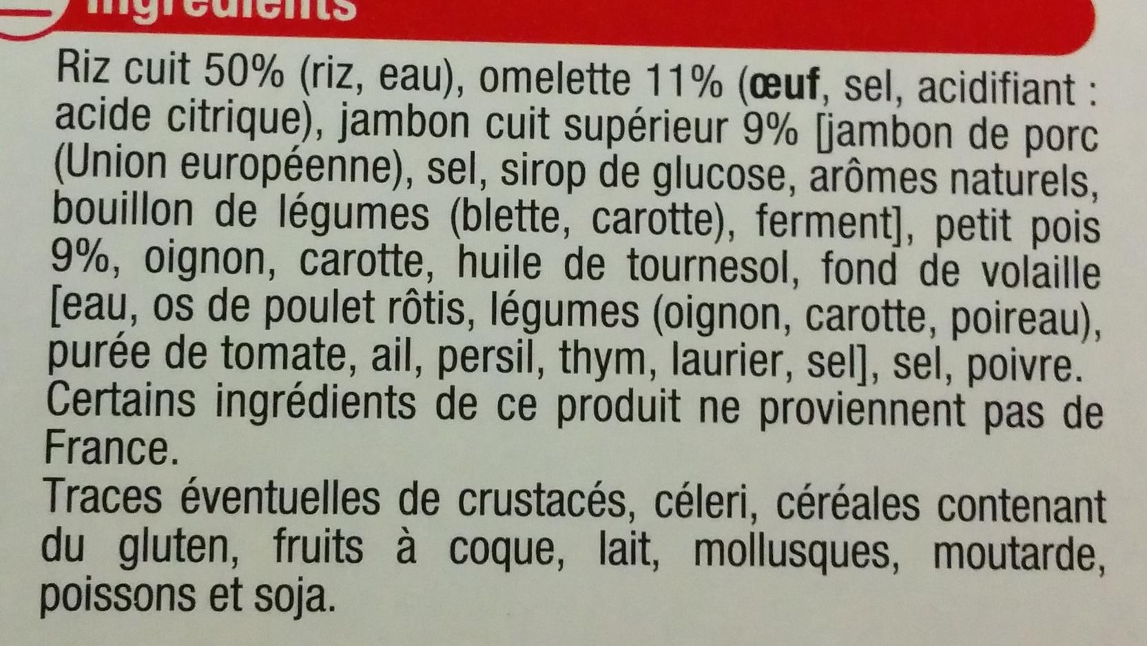 Riz Cantonais - Ingrediënten
