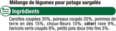 Légumes Pour Potage - Ingredients - fr