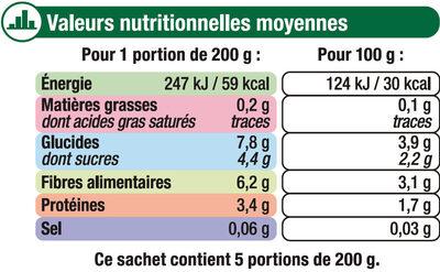 Légumes Pour Potage - Nutrition facts - fr