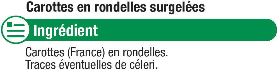 Carottes en Rondelles - Ingredients