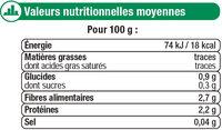 Epinards hâchés - Voedingswaarden - fr