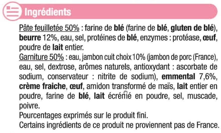 Paniers feuilletés jambon fromage - Ingrédients - fr