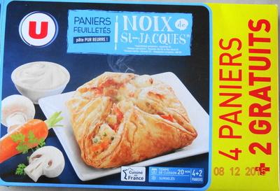 Paniers Feuilletés Noix de St-Jacques*, Surgelés - Produit