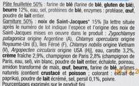 Paniers Feuilletés Noix de St-Jacques*, Surgelés - Ingrédients