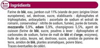 Pizza moelleuse Royale fromage jambon champignons surgelée - Ingredients - fr