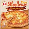 Pizza moelleuse 3 fromages Mozzarella Edam Emmental surgelée - Product