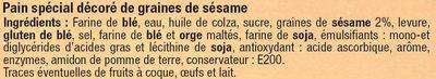 Bagels Sésame - Ingrédients