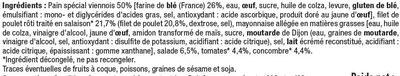 Sandwich baguette viennoise filet de poulet et crudités - Ingredients