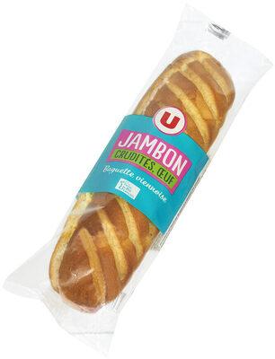 Sandwich baguette viennoise jambon cuit crudités oeuf - Product