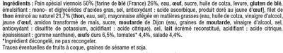Sandwich pain spécial viennois filet thon émincé oeuf tomate salade - Ingrediënten - fr