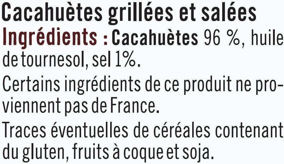 Cacahuètes Grillées et Salées - Ingrediënten - fr