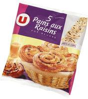 Pains aux raisins pur beurre prêt à cuire - Produit - fr