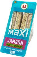 Sandwich maxi jambon emmental et crudités - Product