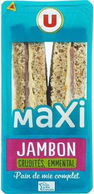 Sandwich maxi jambon emmental et crudités - Produit - fr