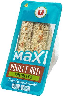 Sandwich maxi poulet rôti et crudités - Produit - fr