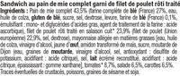 Sandwich maxi poulet rôti et crudités - Ingrédients - fr