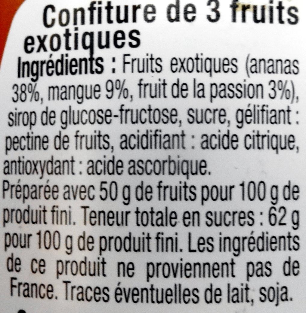 Confiture Fruits Exotiques - Ingredients