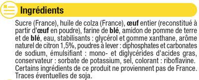 Préparation pour moelleux citron - Ingredients