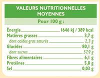 Préparation pour moelleux chocolat - Nutrition facts