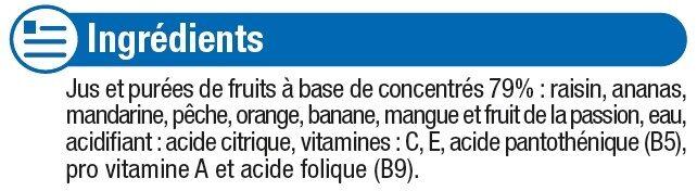 Fraîcheur de fruits tropical - Ingredients - fr