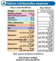 Fraîcheur de fruits tropical - Nutrition facts - fr