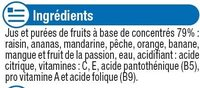 Fraîcheur de fruit tropical riche en fruits - Ingrediënten - fr
