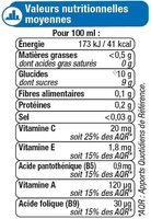 Fraîcheur de fruit tropical riche en fruits - Voedingswaarden - fr