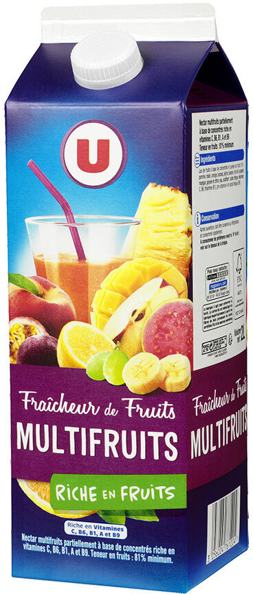 Jus fraîcheur de fruits multifruits riche en fruits - Product