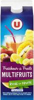 Jus fraîcheur de fruits multifruits riche en fruits - Produit - fr