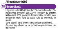 Assiette soir légumes verts et boulghour - Ingredients - fr