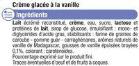 Crème glacée vanille - Ingrédients - fr