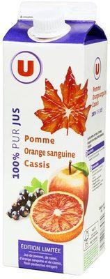 Pur jus de pomme, orange sanguine, cassis pasteurisé réfrigéré - Product - fr