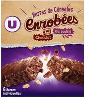 Barres de céréales enrobées de chocolat au riz souflé - Product