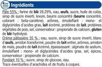 Brioche à la crème pâtissière chinois - Ingrédients