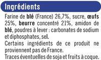 Quatre Quarts Pur Beurre - Ingredients