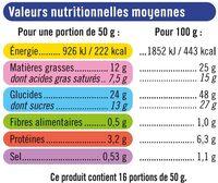Quatre Quarts Pur Beurre - Nutrition facts