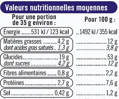 Pains au lait - Nutrition facts - fr