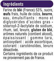 Brioche tranchée - Ingredients