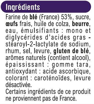 Brioche tranchée - Ingrédients