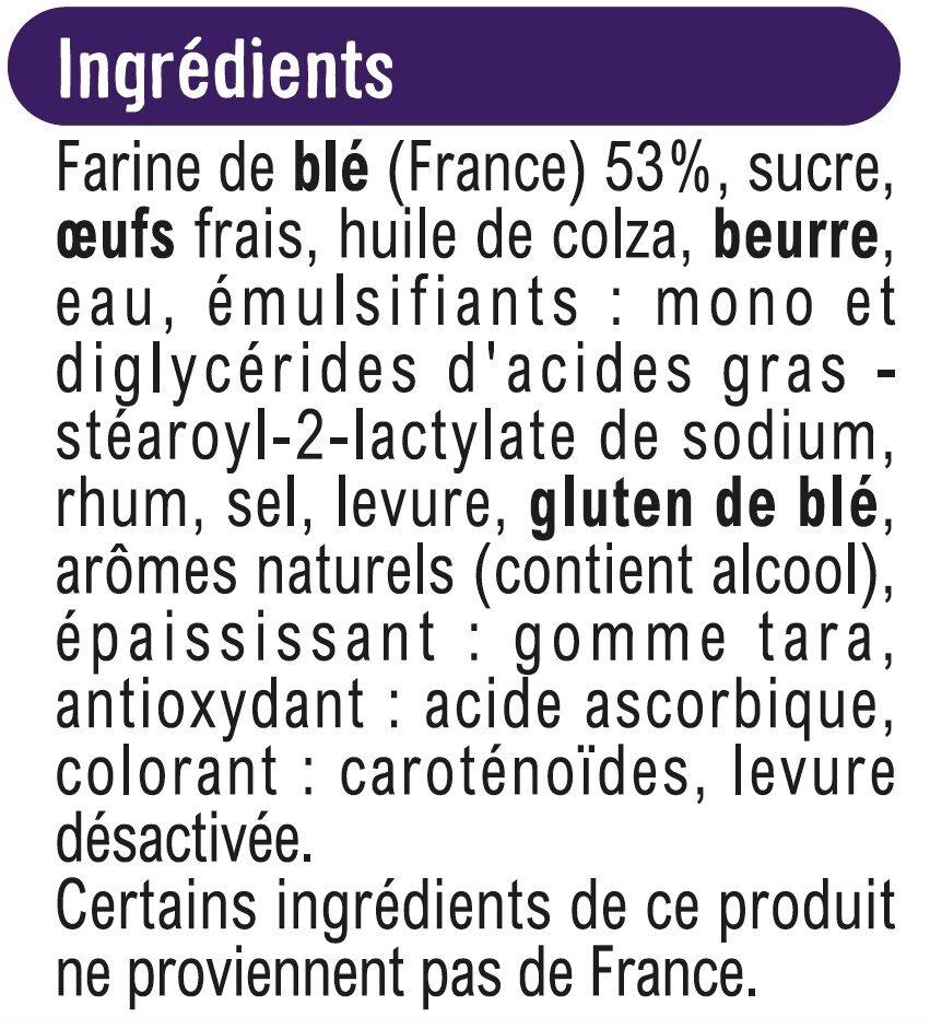 Brioche tranchée - Ingrédients - fr