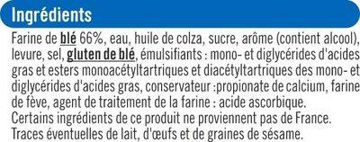 Toasts ronds au froment - Ingrediënten - fr