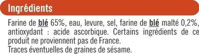 Mini pains précuits - Ingrédients - fr