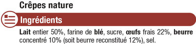 Crêpes Bretonnes nature - Ingrédients - fr