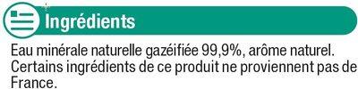 Boisson gazeuse à base d'eau minérale naturelle saveur agrumes - Ingrédients