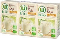 Boisson bio au soja saveur vanille - Product