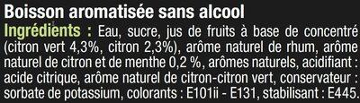 Cocktail sans alcool mojito - Ingrediënten